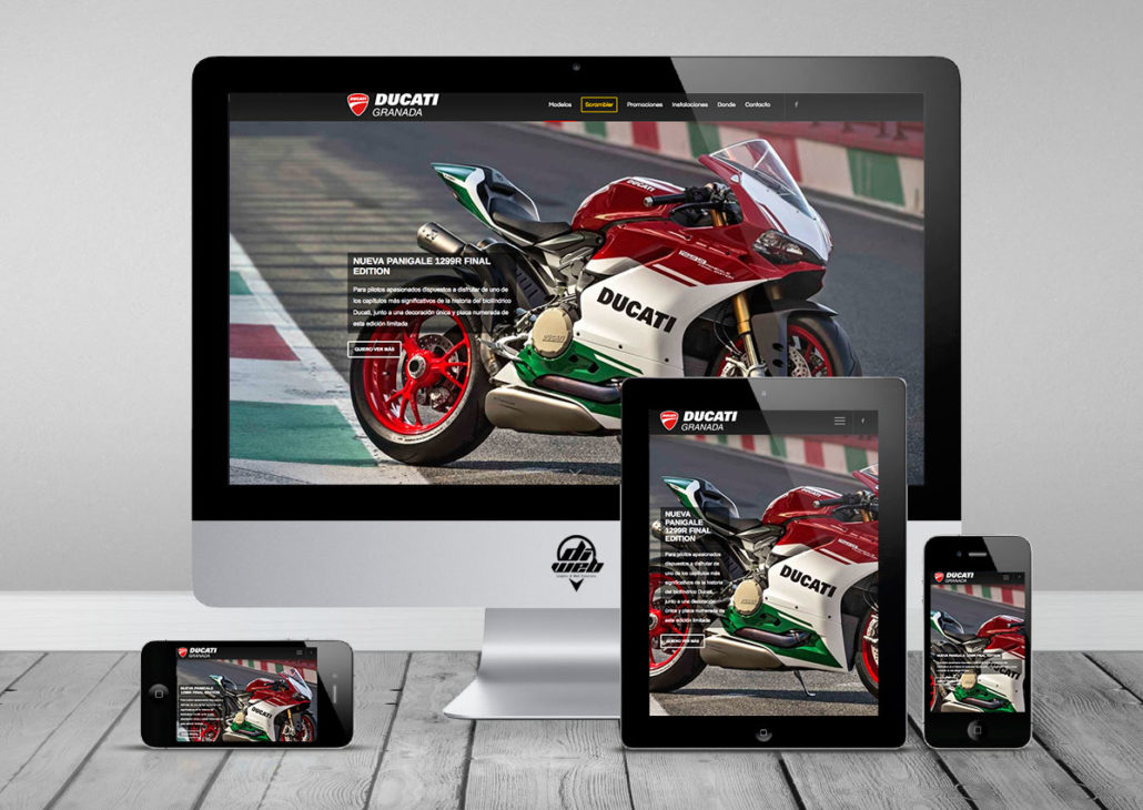 Design and Developed Websites in WordPress for Ducati Granada Oficial Site