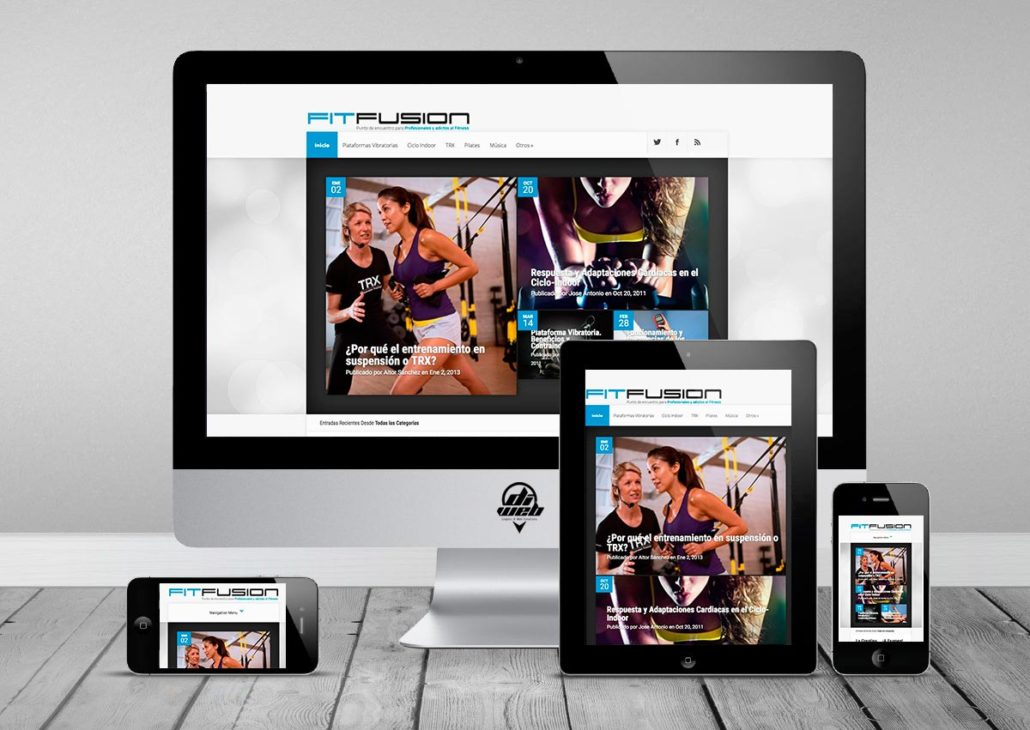 Web development based in WordPress, Content Management, Social Media Management and SEO optimized for Fitness Blog