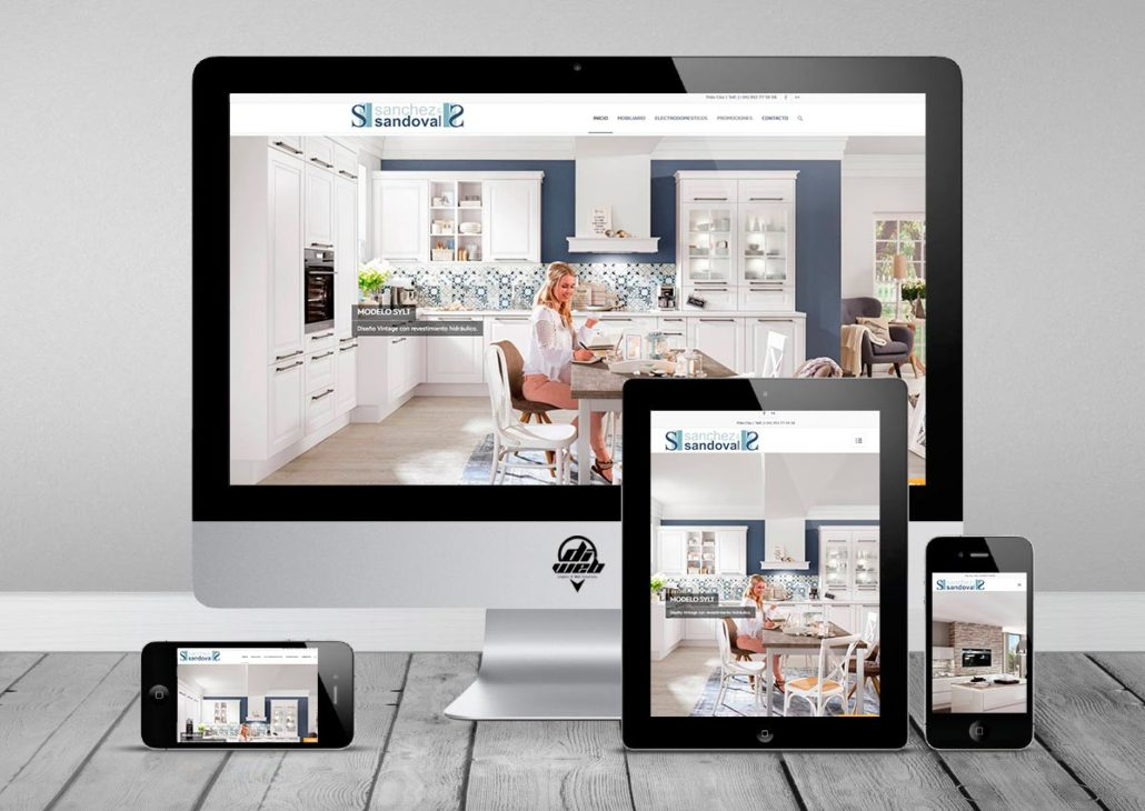 Professional web design with development based in WordPress for kitchen mobiliary business in Marbella