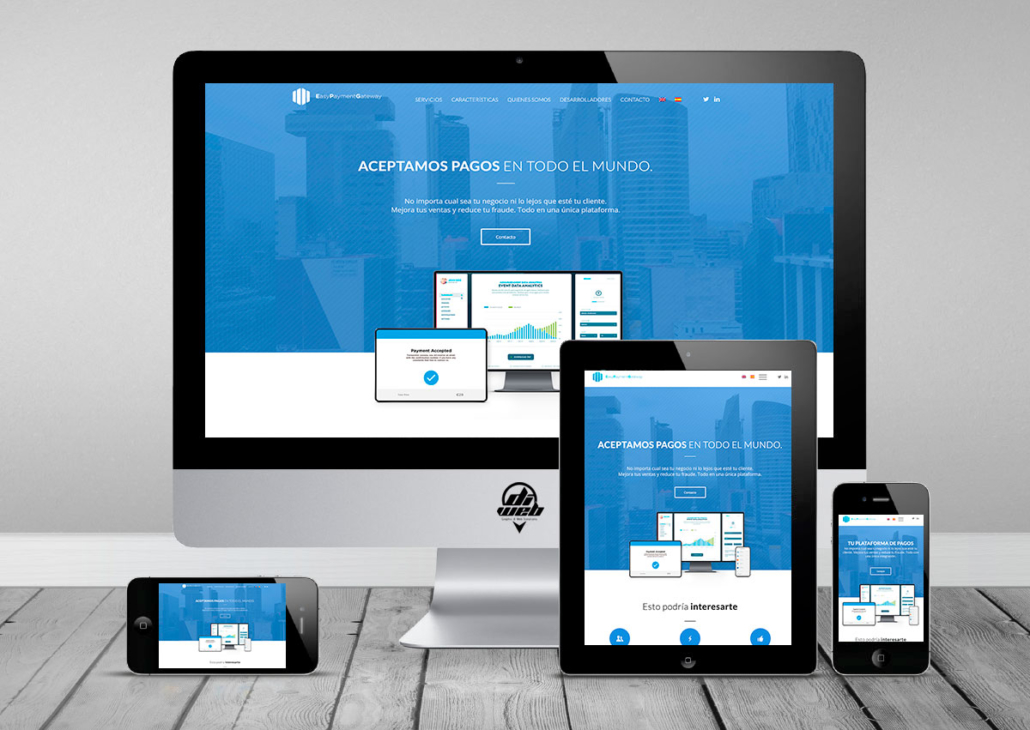 Design and Developed Websites in WordPress for Easy Payments Gateway Site