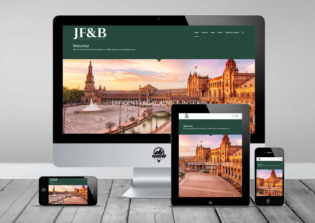 Design and Developed Websites in WordPress for JF&B Lawyers Site